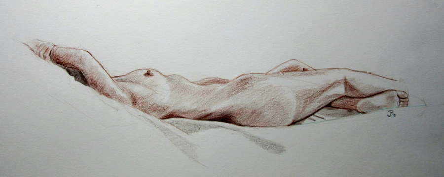 reclining figureRED